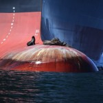 Seals on the bulbous bow
