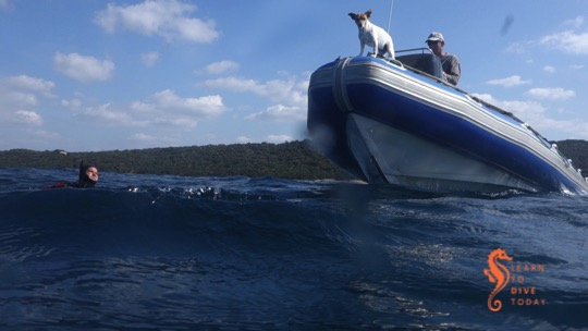 Finishing a boat dive in Sodwana