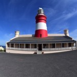 Landward view of Cape Agulhas lighthouse