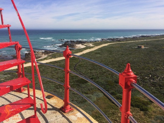 View of Cape Agulhas from the top of the lighthouse