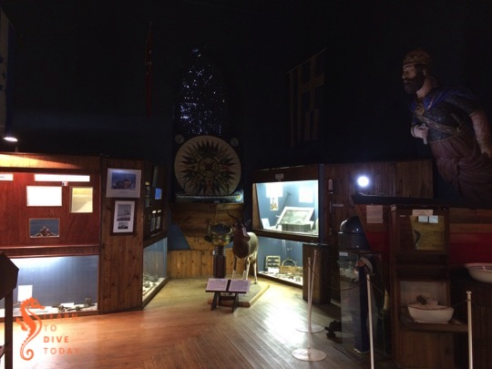 Interior of the shipwreck museum