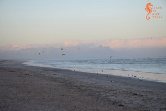 Kite surfers at Muizenberg