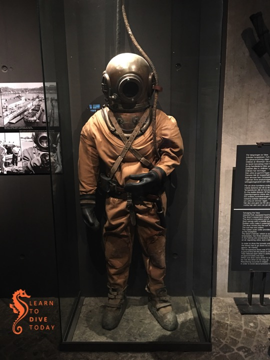 State of the art 1950s diving gear