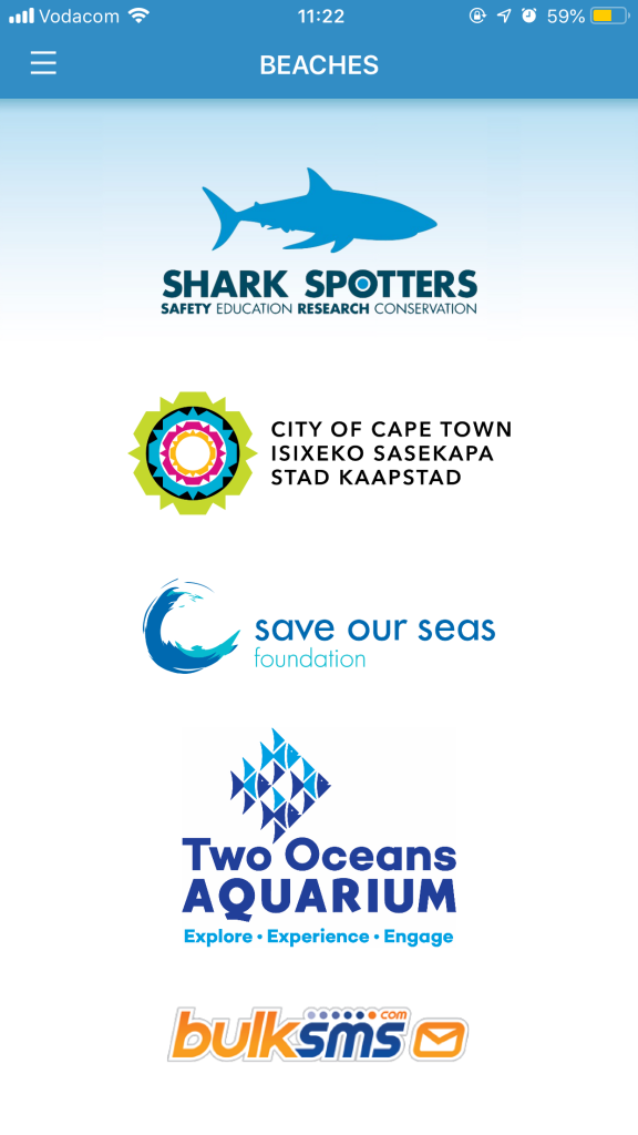 The Shark Spotters app
