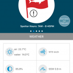 Weather and sea conditions