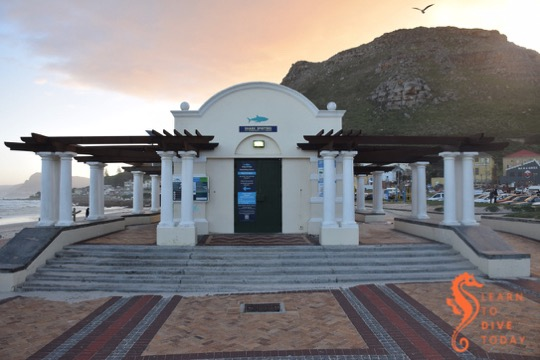 The Shark Spotters info centre at Muizenberg